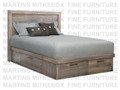 Maple Baxter Double Combo Panel Bed With 4 Drawers