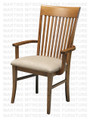 Maple Demi - Lume Arm Chair With Upholstered Seat
