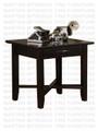 Oak  Demi-Lume Square End Table 23''D x 23''W x 22''H