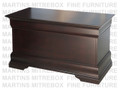 Oak Phillipe Blanket Box 20''D x 42''W x 24''H With Cedar Bottom