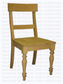 Maple Montero Turned Legs Side Chair With Wood Seat