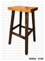 Maple 24'' Saddle Stool