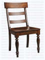 Maple Montero Turned Leg Double Ladder Side Chair With Wood Seat