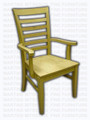 Maple Modern Ladder Arm Chair
