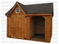 10'D x 16'W Tool Wood Combo Storage Shed Stained And Assembled On Site