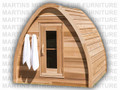 Clear Red Cedar Mini POD Sauna Kit 96''W x 96''D. Seats 4 - 5 People.