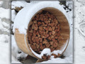 60'' Knotty Cedar Barrel Firewood Storage