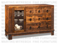 Maple Barrelworks Sideboard 54.5''W x 36.25''H x 18.5''D With 1 Glass Door