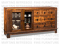 Maple Barrelworks Sideboard 70''W x 36.25''H x 18.5''D With 2 Glass Doors