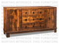 Maple Barrelworks Sideboard 70''W x 36.25''H x 18.5''D With 2 Wood Doors.
