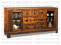 Maple Barrelworks Sideboard 70''W x 36.25''H x 18.5''D With 2 Glass Doors.