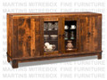 Maple Barrelworks Sideboard 70''W x 36.25''H x 18.5''D With 2 Wood And 2 Glass Doors