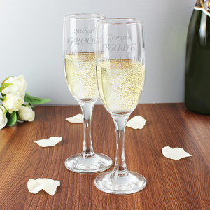Engraved Celebration Flutes