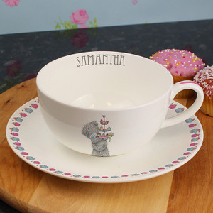 Personalised Me To You Cupcake Teacup & Saucer From Something Personal