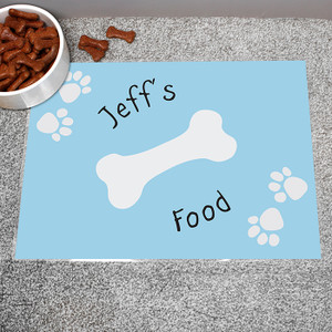 Personalised Blue Paw Print Dog Placemat From Something Personal