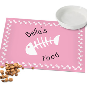 Personalised Pink Paw Print Cat Placemat From Something Personal
