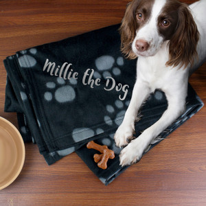 Personalised Dog Paw Print Fleece Blanket From Something Personal