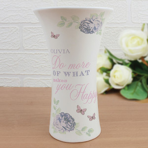 Personalised Secret Garden Ceramic Waisted Vase From Something Personal
