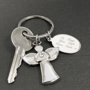 Personalised Angel Keyring From Something Personal