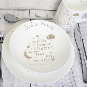 Personalised Twinkle Twinkle Breakfast Set From Something Personal
