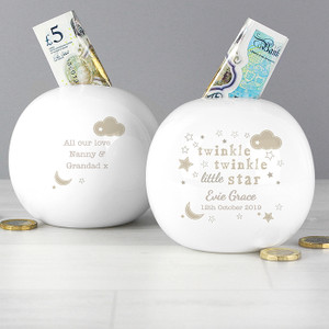 Personalised Twinkle Twinkle Money Box From Something Personal
