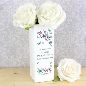 Personalised Forget Me Not Square Vase From Something Personal