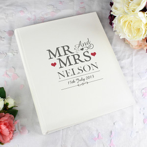 Personalised Mr & Mrs Traditional Album From Something Personal