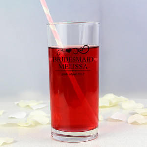 Personalised Bridesmaid Hi Ball Glass From Something Personal