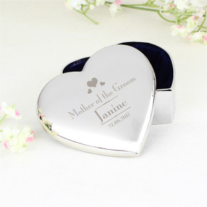 Personalised Mother of the Groom Heart Trinket From Something Personal