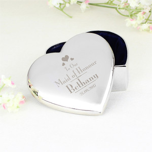 Personalised Maid Of Honour Heart Trinket From Something Personal