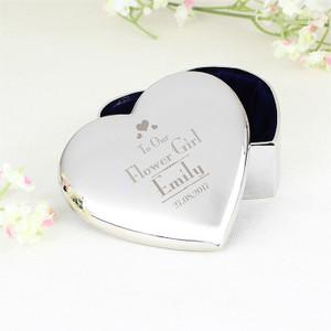 Personalised Flower Girl Heart Trinket From Something Personal