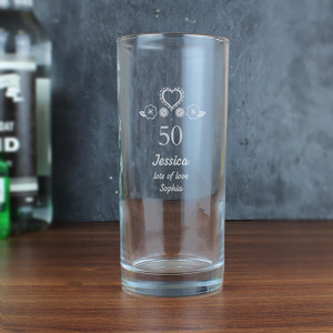 Personalised Birthday Craft Hi Ball Glass from Something Personal