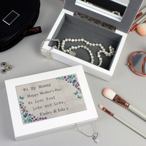 Personalised Forget Me Not Jewellery Box From Something Personal