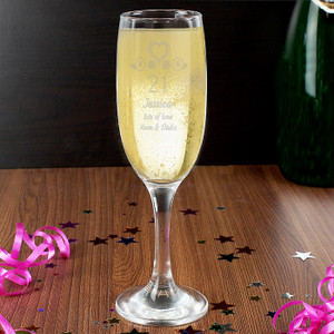 Personalised Birthday Craft Flute Glass From Something Personal