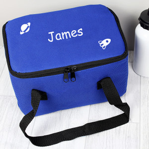 Personalised Blue Rocket Lunch Bag From Something Personal