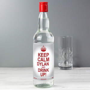 Personalised Keep Calm Vodka From Something Personal