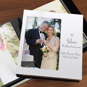 Personalised Decorative Silver Anniversary Photo Album From Something Personal