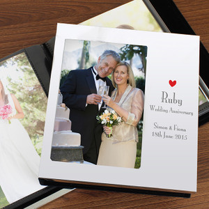 Personalised Decorative Ruby Anniversary Photo Album From Something Personal