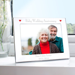 Personalised Ruby Anniversary Landscape Photo Frame From Something Personal