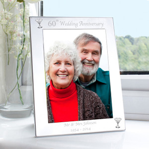Personalised 60th Wedding Anniversary Frame From Something Personal