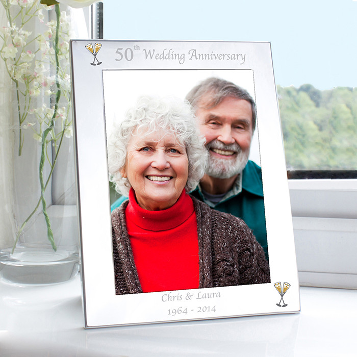 50th Wedding Anniversary Frame Golden Anniversary Gifts