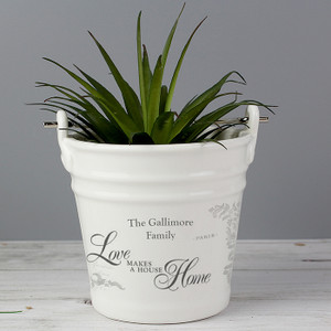 Personalised Love Makes A House Home Porcelain Bucket From Something Personal