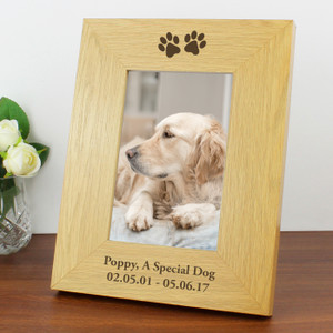 Personalised Paw Prints Photo Frame From Something Personal