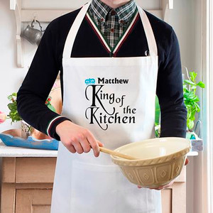 Personalised King Of The Kitchen Apron From Something Personal