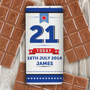 Personalised Birthday Star Chocolate Bar From Something Personal
