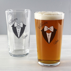 Personalised Dotty Wedding Male Pilsner From Something Personal