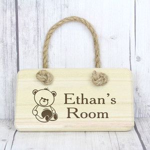 Personalised Teddy Wooden Sign From Something Personal