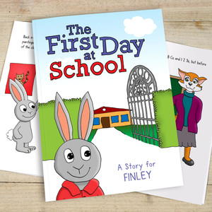 Personalised The First Day at School Children's Book From Something Personal