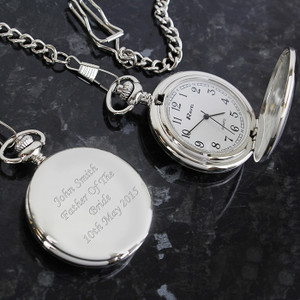 Personalised Pocket Fob Watch Something Personal