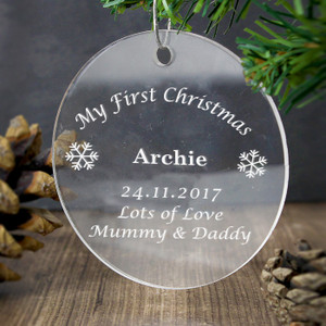 Personalised Acrylic Bauble Decoration From Something Personal